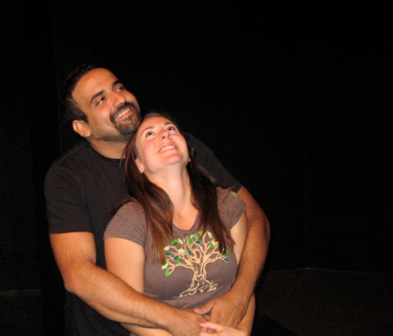 CARLOS FOGLIA and LARA FISHER in Three Syllables of Shame,  Three Roses Players, Luna Playhouse.